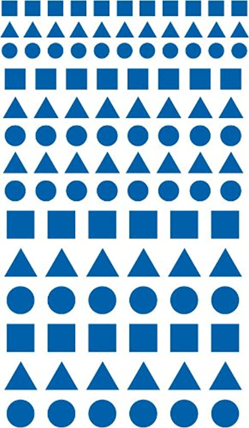 Armour Adhesive Backed Stencil Circles Squares and Triangles