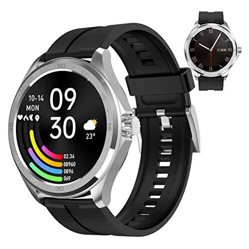 Reloj Inteligente Para Mujer Y Hombre Smartwatch Android Ios Con Llamada Bluetooth Monitor De Frecuencia Cardíaca Presión Arterial Oxígeno En Sangre Sueño Control de música, Fitness Tracker ,Plata