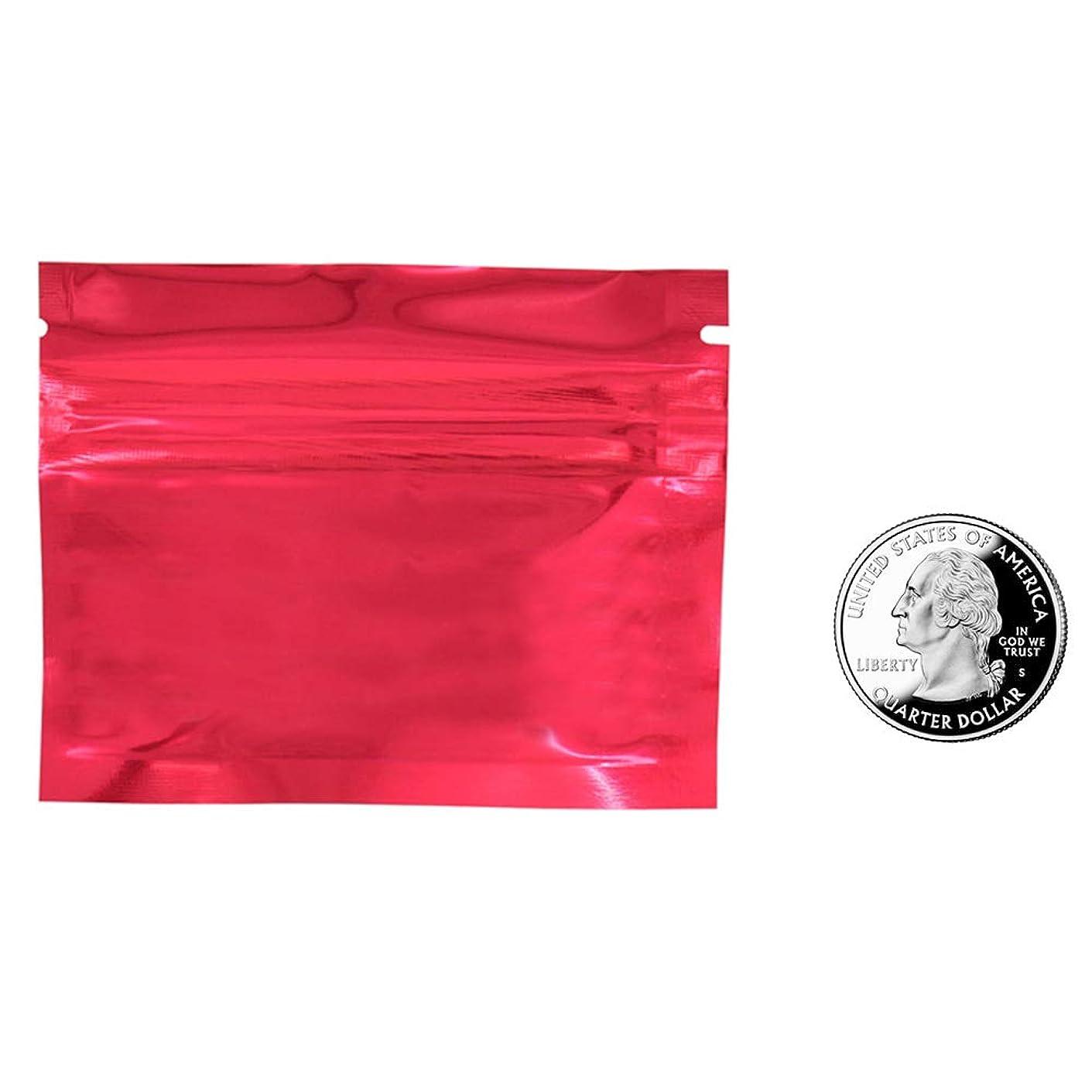 適合する世界記録のギネスブック配管工100 PCSミニジップシールバッグ マイラーフラットジップロックポーチ サンプル収納ポーチ ビタミン貯蔵ポーチ(0.00kg?0.06kg)
