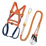 UKCOCO Cintura di sicurezza esterna, 1,8 m Bretella di sicurezza Doppia corda Cintura di sicurezza per arrampicata su roccia Cintura di sicurezza anti-caduta