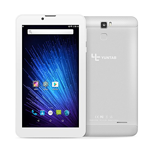 YUNTAB 7 inch 3G Unlocked Android Smartphone Tablet, Support Dual SIM Cards, Quad Core Processor, IPS Touch Screen, with WiFi, GPS and Dual Camera, Alloy Metal Back