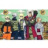 Puzzle Naruto 300/500/1000 Pezzi per adulti e adolescenti Puzzle di Anime giapponesi Giochi divertenti per la famiglia Decorazione Della casa AI02 QW Store (Color : A, Size : 300PC)