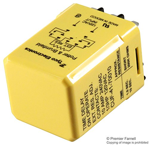 TE CONNECTIVITY/POTTER & BRUMFIELD CUF-41-70010 TIME DELAY RELAY, DPDT, 10SEC, 120VAC