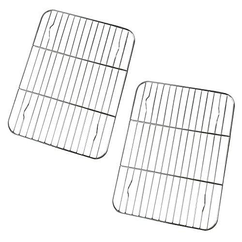Rejilla de alambre rectangular de acero inoxidable, apta para horno, apta para horno de 26,5 x 20,3 cm