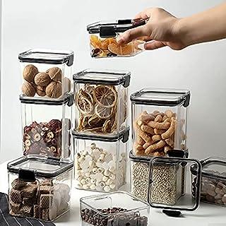 YANGYUE Boîte de Rangement de Cuisine Organisateur de Nourriture conteneur réfrigérateur bac à légumes Nouilles Grains Div...
