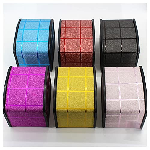 OMIDM Jewelry Box, Single Slot Watch Box Pasticdisplay Funda Pendientes Portátiles Pulseras Rings Watche Jewelry Caja Flexible Silla De Giro (Color : F)