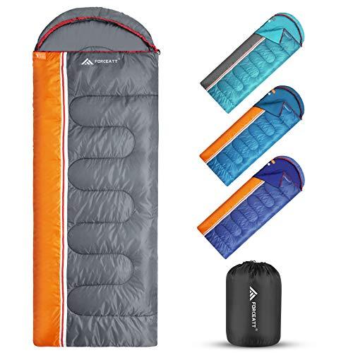 Forceatt Sacco a pelo caldo 3 stagioni, uso interno ed esterno,ultraleggero,adatto per sacco a pelo zaino per adulti e adolescenti,adatto per escursioni,campeggio e attività all'aperto