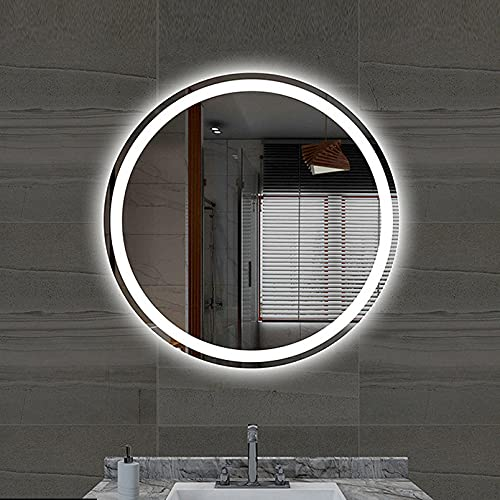 Moderno Espejo De BañO Inteligente,Redondo Espejo De BañO Inteligente Con Interruptor TáCtil,Espejo De Maquillaje De Pared Bluetooth DesempañAdor Prueba De Agua…