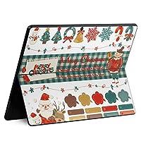 igsticker Surface Pro X 専用スキンシール サーフェス プロ エックス ノートブック ノートパソコン カバー ケース フィルム ステッカー アクセサリー 保護 013798 クリスマス サンタ トナカイ
