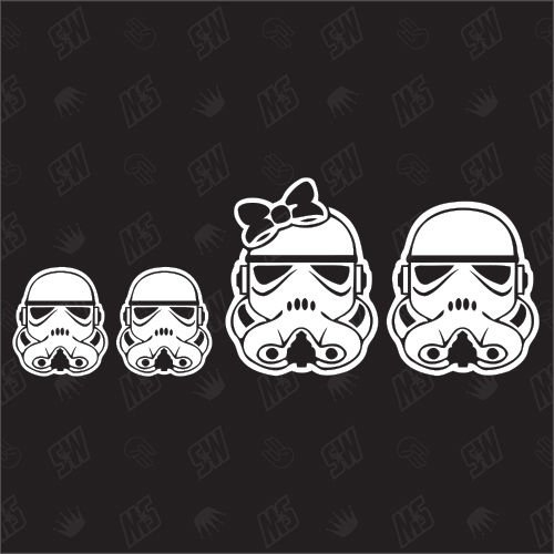 Star Wars Family with 2 little boys - Sticker