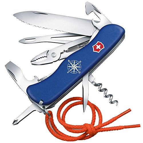 Victorinox Taschenmesser Skipper (18 Funktionen, Feststellklinge, Kordel, Kombi-Zange, Drahtschneider) blau
