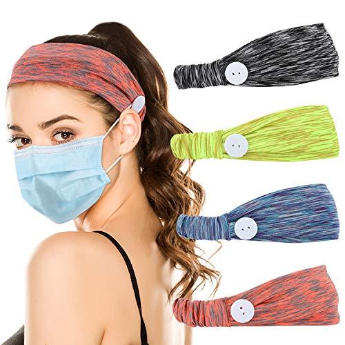 AILANDA 3 piezas Diademas deportivas el/ásticas banda para la cabeza para mujer y hombre Antideslizante para Deporte Yoga Correr Fitness