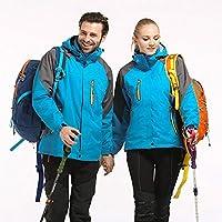 ジャケット、屋外登山およびスキースーツ、スリーインワンの男性と女性、防水および防風
