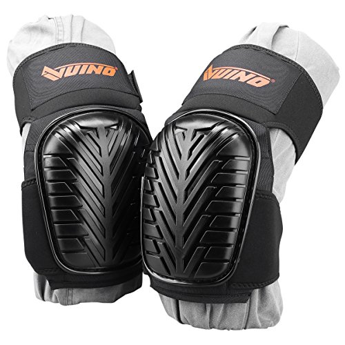 VUINO Professional Knee Pads for work, EVA Foam Padding with Comfortable gel cushion and Strong Strechable Straps for Gardening, Cleaning, Flooring,Tile