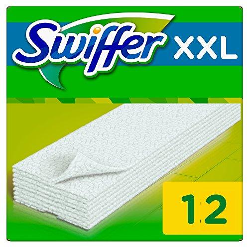 Swiffer - Recharges Lingettes Sèches pour Balai Attrape-Poussière Taille XXL - Lot de 3 (36 lingettes)