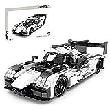 HYZH Tecnica Baustein Racing - Set di costruzione per auto sportiva per Porscho 919, 727 mattoncini per costruzione tecnica auto da corsa con motore di ritorno, compatibile con Lego Technic