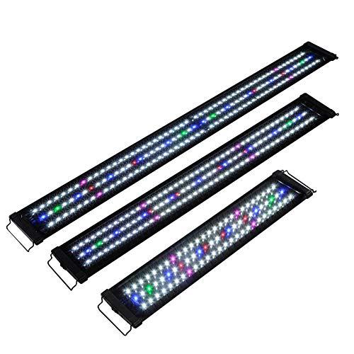 Luz LED Acuario, Lámpara De Acuario, Iluminación LED, Pantalla LED Acuario Lámpara De Planta para Pecera,150cm,US