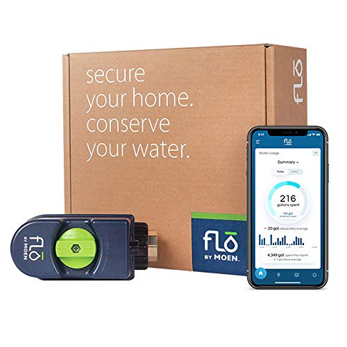 Moen 900 Flo Leak Detection Smart Home Water Security System, Alexa-Enabled