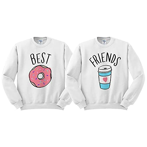 b3b8bd2f6f270 Best Friends Donut Coffee Duo Sweatshirt Unisex