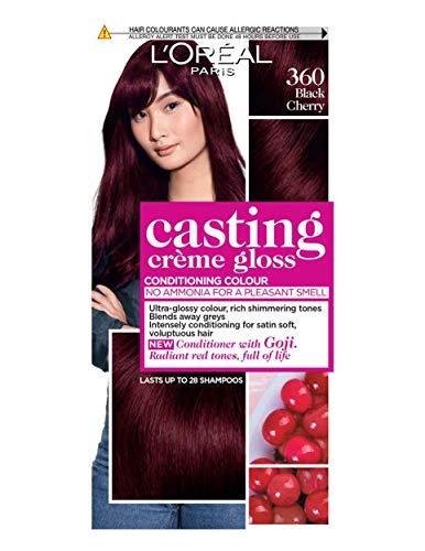 L'Oreal Paris - Crema colorante per capelli Casting Crème Gloss 360 nero ciliegia