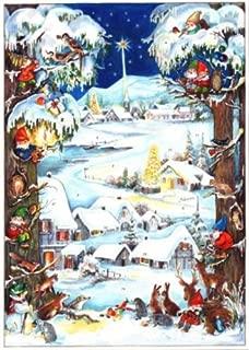 Snowy Village German Advent Calendar