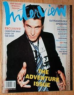INTERVIEW MAGAZINE - CHRISTIAN BALE Bruce Weber VINNIE JONES The Donnas ALICIA WITT February 2001
