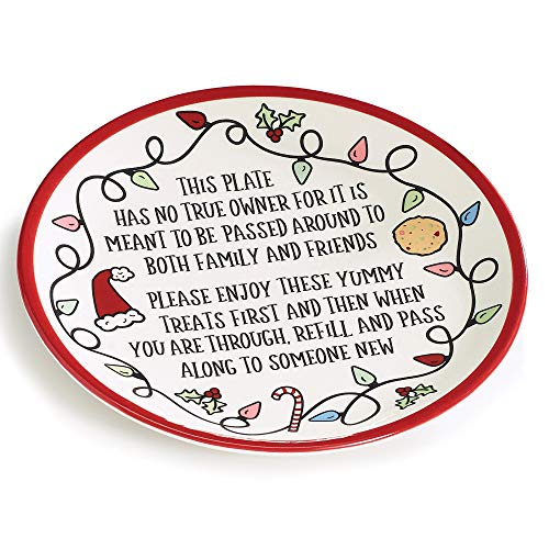 burton burton servewares burton+BURTON Christmas Sharing Message Plate