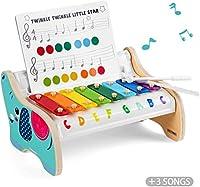 TOP BRIGHT Xilofono in Legno per Bambini – Strumento Musicale Giocattolo per Bambini di 1 Anno con 3 Spartiti – Tasti Colorati, Gioco educativo #7