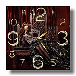 ART TIME PRODUCTION Cher 11'' Handmade Wall Clock - Get Unique décor for Home or Office – Best Gift Ideas for Kids, Friends, Parents and Your Soul Mates