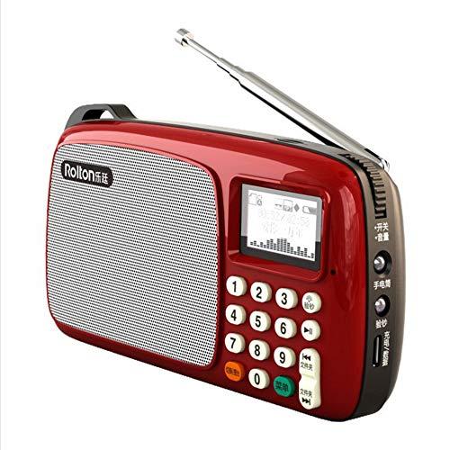 Mini Radio PortáTil, Altavoz De La Tarjeta del Reproductor De MúSica Mp3, Soporte Radio/MúSica/Linterna/Detector De Dinero/Temporizador/Bucle Simple ZDDAB