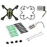AFUNTA per Hubsan X4 H107C Quadcopter nero / verde Ricambi Crash Pack (One Corpo...