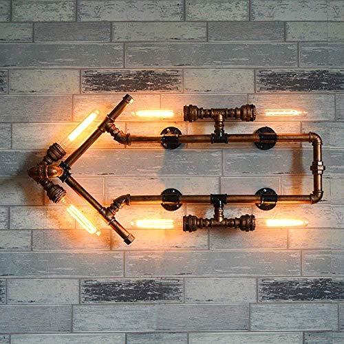 Wandlamp voor waterslang met manometer wandlamp industrieel met retro design retro wandlamp retro wandlamp decoratie bar ristorante koffie en gebruik Domestic stopcontact E27 Sti