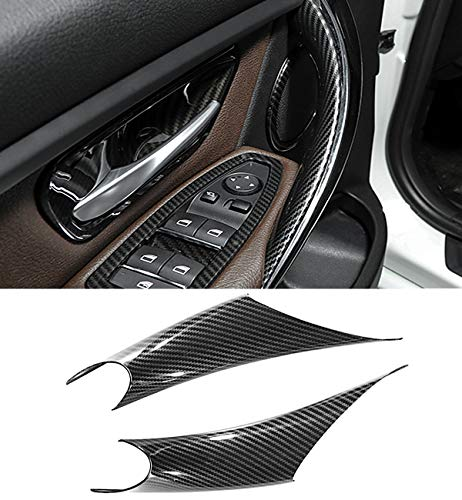 Jaronx 2PCS Door Handle Covers For BMW 3 Series 4 Series Driver Side & Passenger Side Door Pull Handle Covers (For:BMW 320i,328i,330i,335i F30/F31 and BMW 428i, 435i F32/F36)(Carbon Fiber)