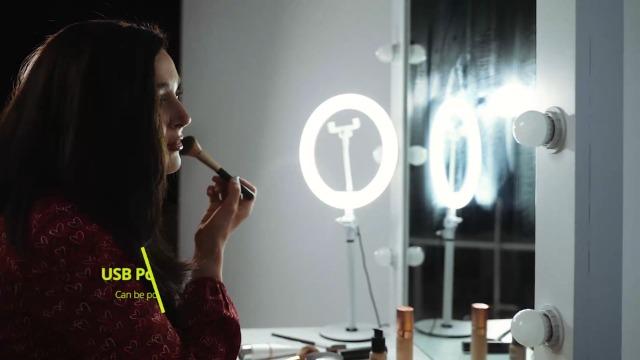 Neewer Tischplatte 10 Zoll Usb Led Ringlicht Kamera