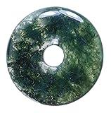 Lebensquelle Plus Agata muschiata con gemma a ciambella, Ø 30 mm