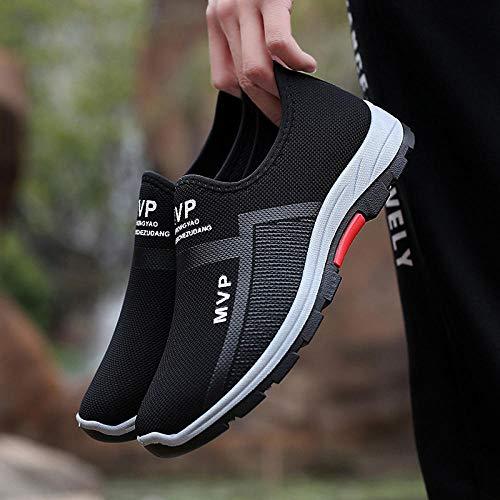 Herren Damen Sportschuhe,Calzado de Running para Hombre,Zapatos de Malla Transpirable Senderismo Zapatos al Aire Libre Calzado Deportivo-Black_38#