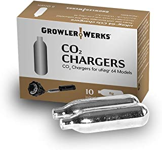GrowlerWerks uKeg 64 CO2 Chargers 8g, Box of 10