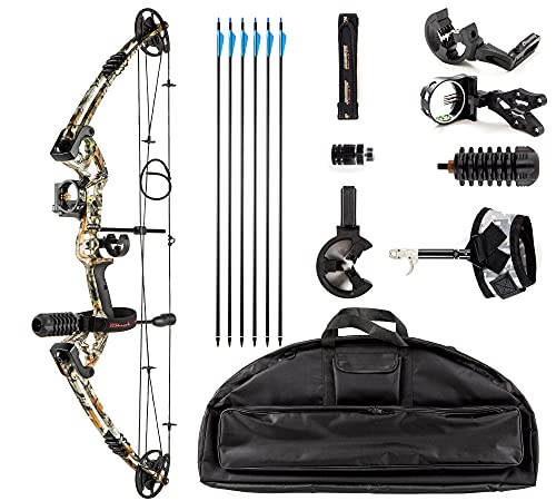Rochan 2021 Aluminum Alloy Compound Bow with Dyneema Bow String Right Hand Composite Bow with...