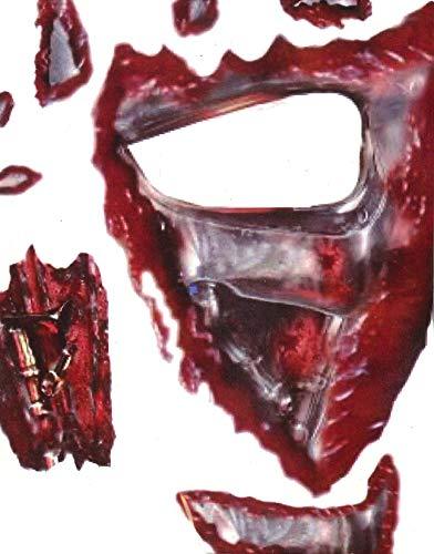 Killer Cyborg Gesicht Tätowierung Transferdruck Satz - Instant GESICHTSFARBEN - perfekt Halloween Kostüm Zubehör