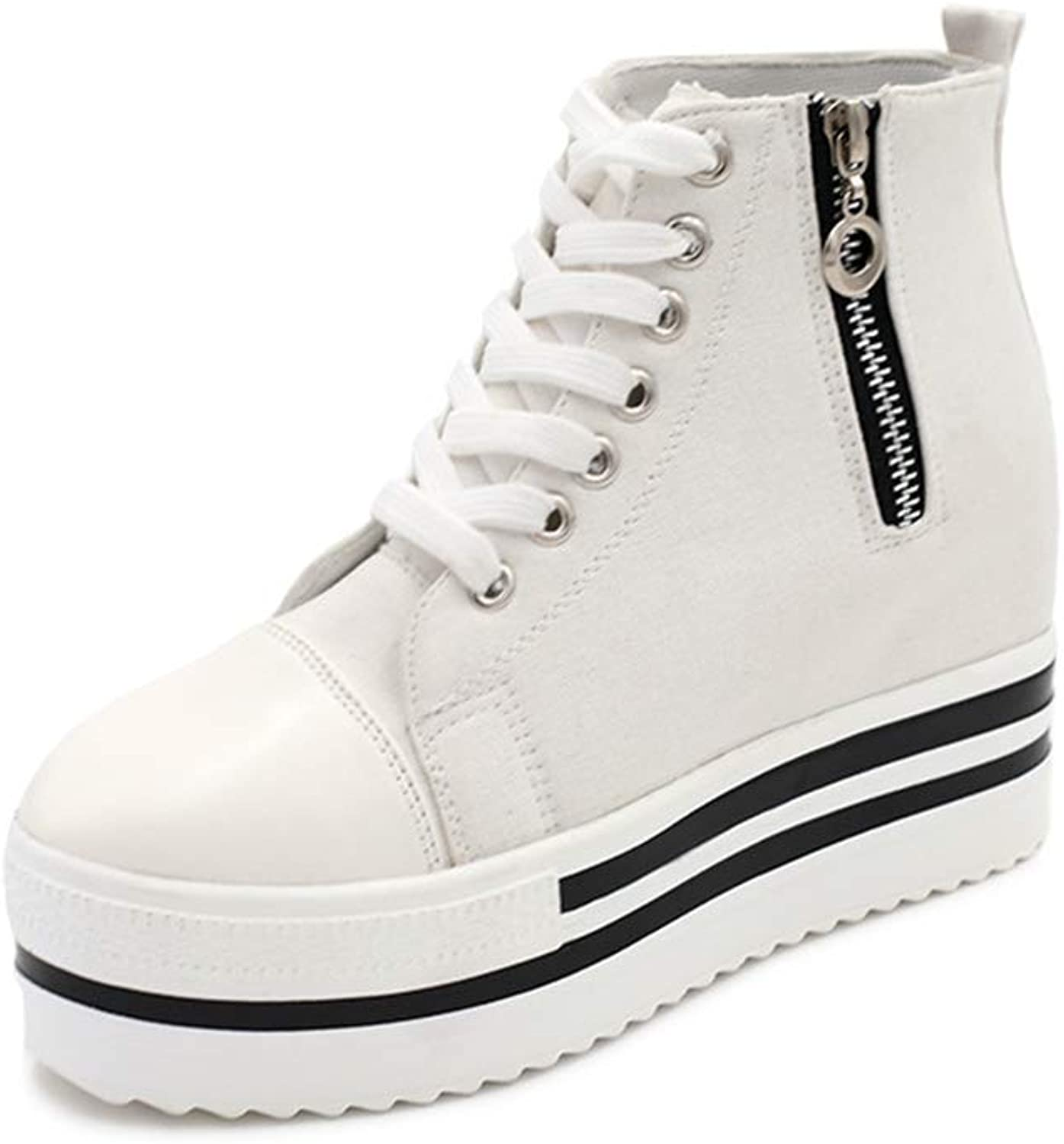 Lcky High-top Canvas shoes Popular Women's Walking shoes Sneakers