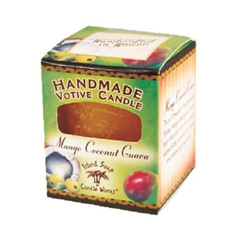 占める豊かにするレザーアイランドソープ ボーティブキャンドル マンゴココナッツ
