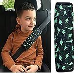 1x HECKBO Cinturón de seguridad Cojín de hombro Cojín de hombro Cojín de cinturón para niños Niños Niños/Chicos con dinosaurios…