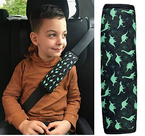 HECKBO/® 1x car Seatbelt Protector with Football Player for Children Boys Girls Safety seat Belt pad Pillow Belt Shoulder pad Pads car seat Belt Protection Kids Belt Padding