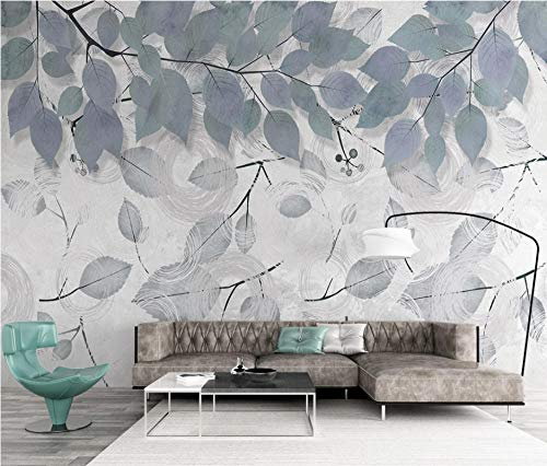 SHANGZHIQIN 3D Wallpaper Walls Modern Minimalist Abstract, Simple Branches and Leaves Lines