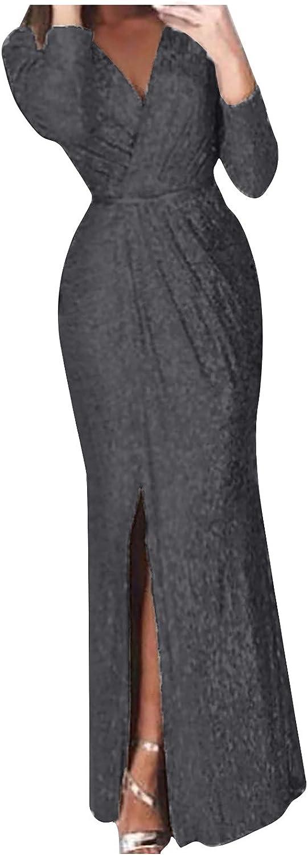 Same day shipping YHYH Sexy Stretch Selling rankings Long Dress Bag Womens Fashi V-Neck Hip Dresses