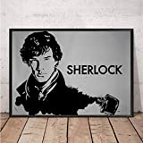nobrand Rahmenloses Gemälde Sherlock Holmes Kunstplakat