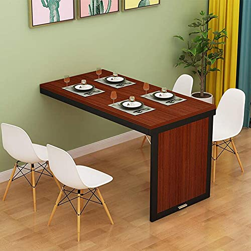 ZCYY Wall-mounted table,Extendable Dining Table for Kitchen Dining Room, Wall Mounted Folding Console Table Drop Leaf Table for Small Spaces, Space Saving Home Workstation Invisible Bar