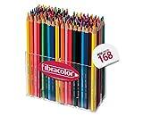Fibracolor Matì Super multiscatola 168 pastelli colorati in legno esagonale punta media