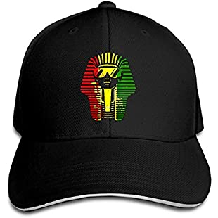 LuoKuan ZJXBaseball Cap Sandwich Cap Egyptian King African Reggae Durable Baseball Cap Hats Adjustable Peaked Trucker Cap