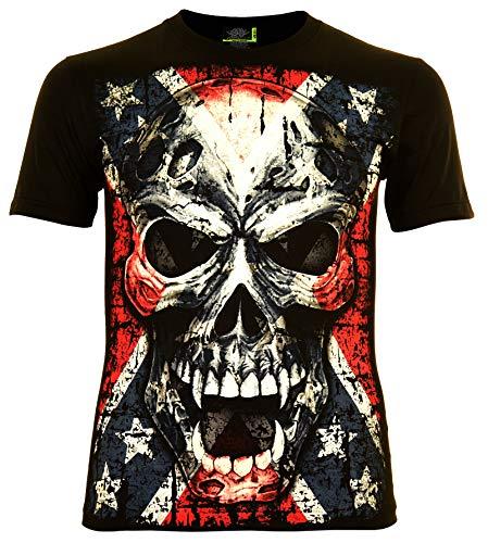 Vampire Skull Herren T-Shirt Glow in The Dark (XXL)